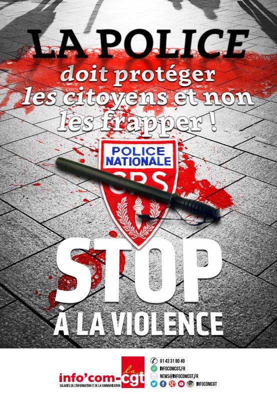 La police considérée comme des Kapos par la CGT